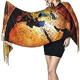 Bufanda de mantón Mujer Chales para, Earth Art Moda para mujer Mantón largo Invierno Cálido Bufanda grande Bufanda de cachemira