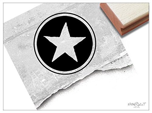 Stempel - Siegelstempel Stern als Poststempel - Wachsstempel Bildstempel Geschenk für Kinder Weihnachten, Karten Servietten Basteln Deko- zAcheR-fineT