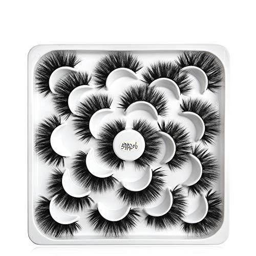 10 Pairs La beauté des femmes Panacée Croisement Long Faux cil Mascara watervish Mixed style Nature(5DAZ06)