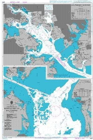 BA Chart 2850: Chesapeake to Nippon regular agency Approaches List price Baltimore Bay