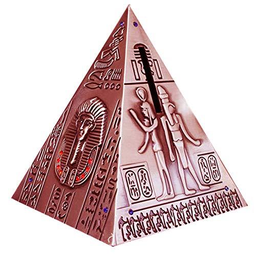 Pirámide egipcia hucha caja de dinero