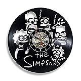Gullei.com Wanduhr aus Vinyl  Motiv Simpsons Fan