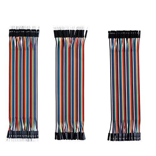 150Pcs 30CM Dupont Draht Jumper Kabel, 50Pin männlich zu weiblich, 50Pin männlich zu männlich, 50Pin weiblich zu weiblich Ribbbon-Kabel für Solderless BreadBoard/Arduino basiert/DIY/Raspberry Pi 2 3