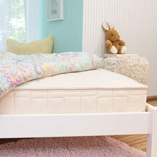 Naturepedic 2-in-1 Organic Kids Mattress, Natural Mattress with Quilted Top and Waterproof Layer, Non-Toxic, Full Size