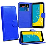 Samsung Galaxy J6 2018 J600F Cases - Blue Premium Wallet