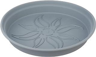طبق وعاء زرع بلاستيك من مينترا، 29سم - رمادي