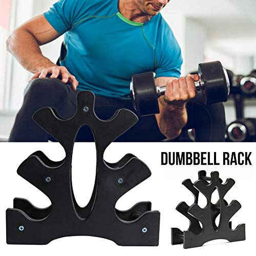 3-Tier Dumbbell Rack Storage Rack Stand, Easy to Receive with Best Storage Effect, Maximum Load is 25kg for Gym Organization