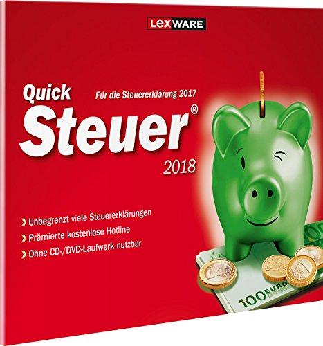 Lexware QuickSteuer 2018 für das Steuerjahr 2017 Einfache und schnelle Steuererklärungs-Software für Arbeitnehmer, Familien, Vermieter, Studenten und Rentner Kompatibel mit Windows 7 o. aktueller