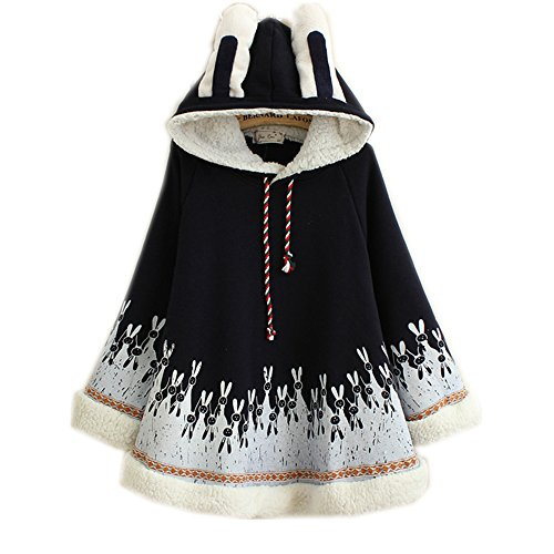 Himifashion - Manteau - Cape - Femme Taille Unique - Blanc - Taille Unique