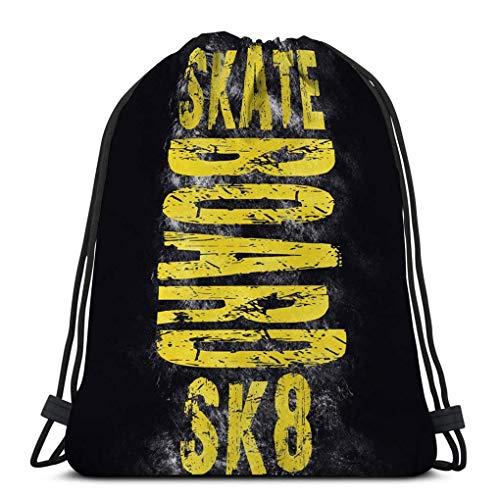Sacca Sportiva Sacca Gym Borsa Coulisse skateboard città arte strada stile grafico sk moda elegante modello di stampa carta di abbigliamento etichetta poster emblema timbro Coulisse Zaino 36X43CM