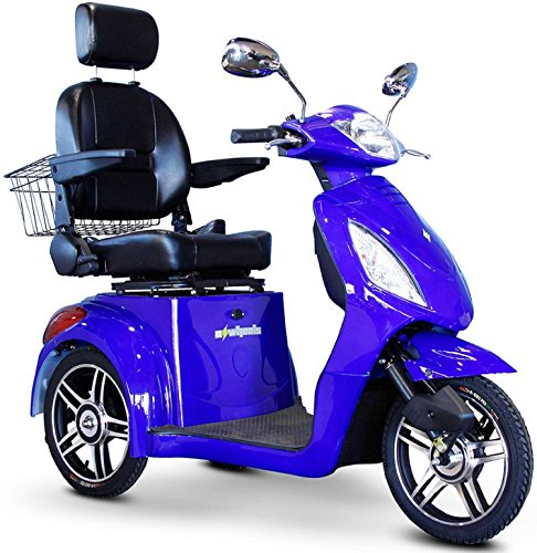 E-Wheels - EW-36 Elite Scooter with Electromagnetic Brakes - 3-Wheel - Blue
