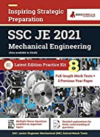 SSC JE Mechanical Engineering Exam 2021 8 Full-length Mock Tests (Solved) + 3 Previous Year Paper Latest Pattern Kit for Staff Selection Commission Junior Engineer