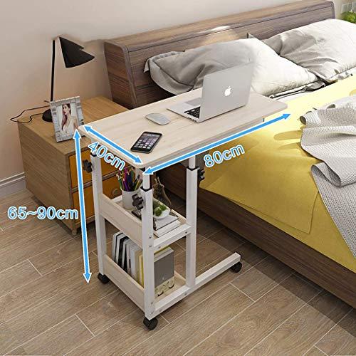 ZCCDNZ Nachttisch Laptoptisch Lazy Tisch Bett Tisch Kleiner Tisch im Schlafzimmer Bewegliches Heben Mini Student Einfach (Farbe : D, größe : 80cm)
