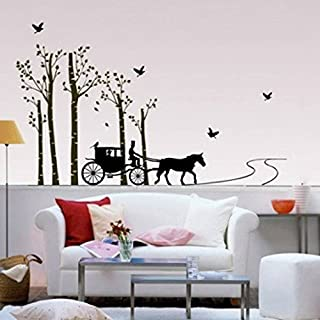 SYGA Horse Ride Vintage Style Wall Stickers Wall Decals 815