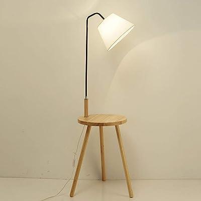 UWY Lampadaire trépied, lampadaire de Table Basse, Lampe de Protection des Yeux de Lecture pour Chambre à Coucher, Salon, Bureau, lampadaire de Chevet à économie d'énergie, lampadaire Noir