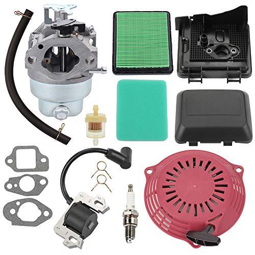Trustsheer GCV160 Carburetor for Honda GCV160A GCV160LA Engine HRB216 HRR216 HRS216 HRT216 HRZ216 Lawn Mower 16100-Z0L-023 w Tune Up Kit Air Filter Ignition Coil