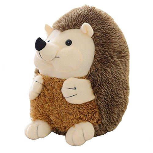 Ballylelly-Schöne Weiche Igel Tier Puppe Niedliche Plüschtier Simulation Tier Beschwichtigen Puppe (Farbe: grau)