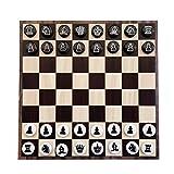 LINMAN Exquisito Juego de ajedrez de plástico sólido magnético, Disquete de Hierro portátil, Regalo for niños, Rompecabezas for los Juegos de Mesa de Pared (Color : Chocolate)