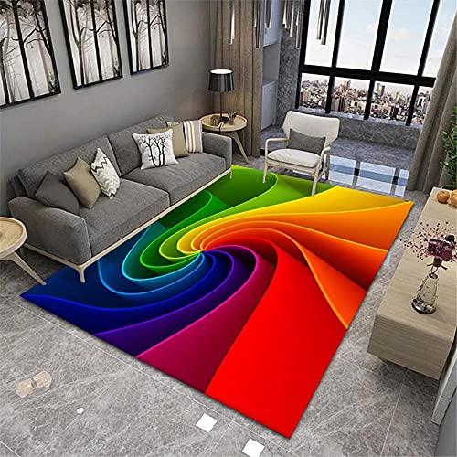 alfombra habitación matrimonio,Alfombra de color, Patrón floral rotativo Asiento de oficina Cojín de asiento de oficina Caliente Resistente al desgaste Durable Balcón Alfombra ,alfombra entrada -color
