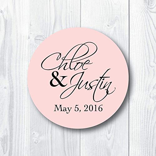 Modern Script Custom Wedding Favor Stickers