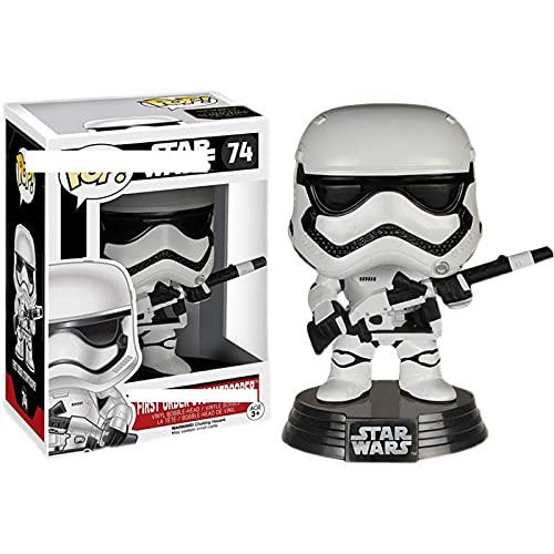 HUAL Figuras Pop Star Wars First Order Stormtrooper # 74 Figura De Acción 10Cm, Colección De PVC Modelo Muñeca Juguetes para Niños Regalos De Cumpleaños con Caja