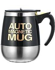 Ysinobear マグカップ 自動ミキサーカップ 電動シェーカー ステンレス製 マグネット 自動 撹拌 大容量 450ml クリーン簡単 漏れ防止