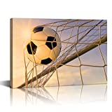 LevvArts - Modern Canvas Art Wall Decor Sports Soccer Pictures Canvas Prints Gym Poster for Boys Room Kids...