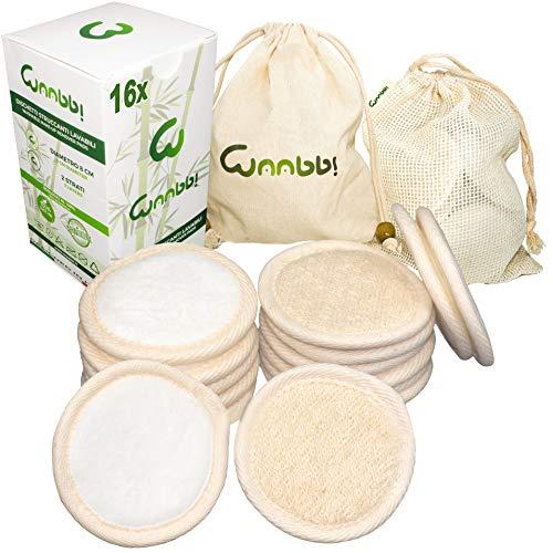 Coton Demaquillant Reutilisable Lavable en Fibre de Bambou 16 Pièces Disque Lingette Demaquillante Lavable Biologique avec Sac à Laver et Sac à Linge en Coton