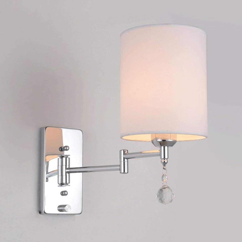 LQB Moderne Moderne Moderne Einfache Kristall Wandleuchte Schlafzimmer Lampe Nachttischlampe Kreative Amerikanische Arbeitszimmer Wohnzimmer Balkon Treppenlampen B07GGW1XQD | Die Qualität Und Die Verbraucher Zunächst  139911