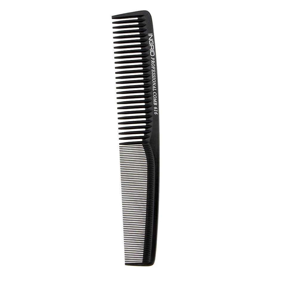 アクチュエータ柔らかさトラブルFenteer ヘアカットコーム 櫛 コーム 理髪店 ヘアケア 便利 全5色  - ブラック