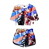 WYTX Sword Art Online Traje de Cosplay de Anime Top Top Shorts