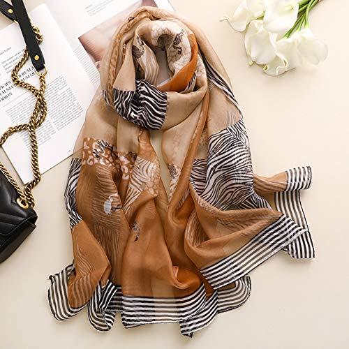 YCEOT Winter Hijab Lange Sjaals Vrouwelijke Han Is Voorkomen Bask In Strand Handdoek Luipaard Graan Dunne Model