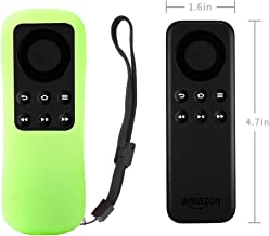 Fire TV Stick Non-Alexa Voice Remote Case SIKAI Silicone Protective Cover for Fire TV Stick Basic Edition Remote Anti-Slip Shockproof Washable Anti-Lost with Remote Loop (Glow in Dark Green)