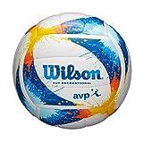 Wilson AVP Splatter, WTH30120XB Pallone da Pallavolo, Pelle Sintetica, Replica, Dimensioni Ufficiali, Giallo