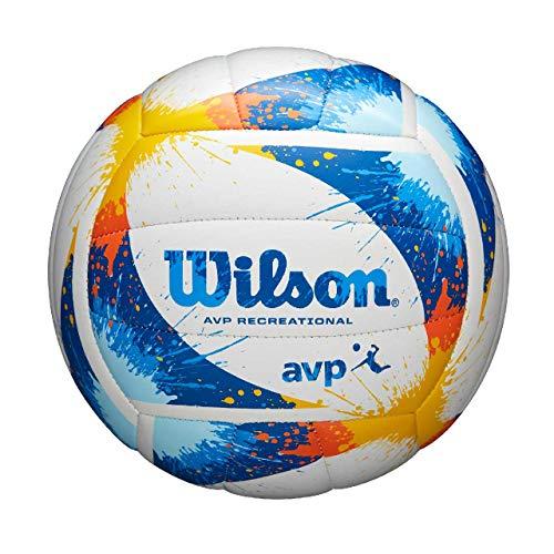 Wilson Volleyball AVP SPLATTER, Synthetik, Offizielle Größe, gelb, WTH30120XB