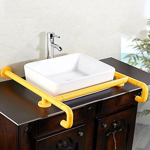 WEBO HOME- Bassin de comptoir Main courante Nylon Pieds Sécurité Main courante Lavabo Accoudoir Handicapé Handicapé Main courante Salle de bain Toilette -Main courante de salle de bain ( Couleur : Le jaune )