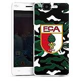 DeinDesign Hard Hülle kompatibel mit Wiko Highway Schutzhülle weiß Smartphone Backcover FC Augsburg Camouflage FCA