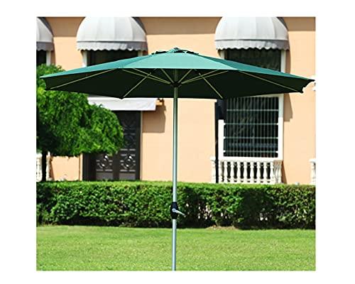 F-XW Ø270cm Sombrilla Parasol Exterior Sombrilla Playa Proteccion UV Parasol Playa Plegable, sin toldo Que se decolora, sombrilla de terraza con Poste de aleación de Aluminio, Verde, Caqui, Rojo