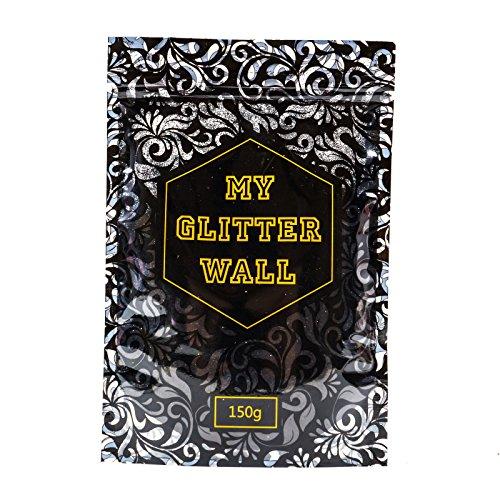 Schwarz 150g my Glitter Wand Glitter für Emulsion Farbe glitzernden Wand Dekorationen perfekt für Innen und Außen