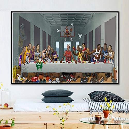 Puzzle da 1000 Pezzi L'Ultima Cena delle Superstar del Basket Temi Set di Puzzle per Famiglia per Adulti cresciuti Bambini (50x75cm)