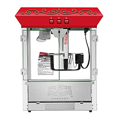5990 Great Northern 10 oz Perfect Popper Countertop Style Popcorn Machine Red