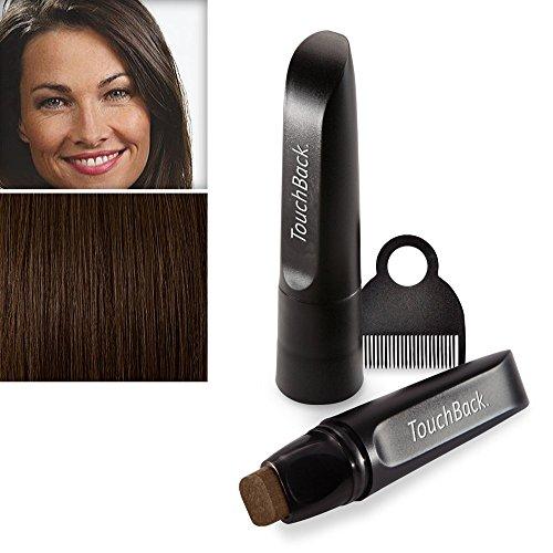 TouchBack PRO Ansatz-Kaschierstift für graues Haar – Echte Haarfarbe Mittelbraun
