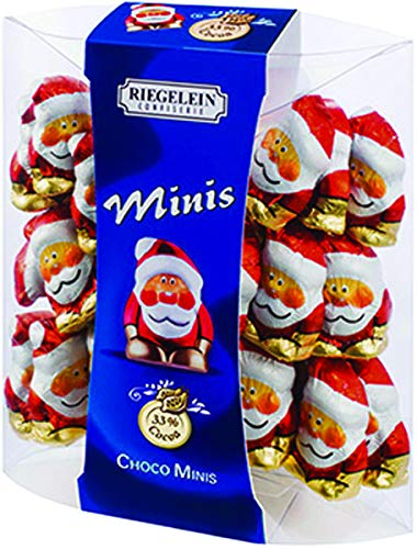 Riegelein Mini Solid Santa 33% Milk Chocolate Holiday Stocking Stuffer 3.5 oz