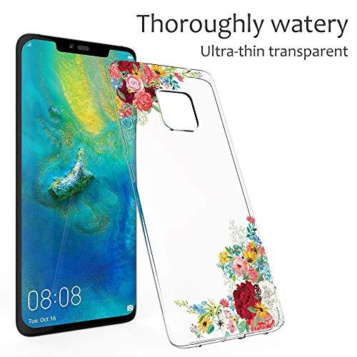 Handyhülle Kompatibel mit Huawei Mate 20 Pro Hülle,Huawei Mate 20 Case TPU Transparent Silikon Flexibel Ultra dünn Weicher Bumper Anti-Scratch Case für Mate 20 Lite Hülle (Huawei Mate 20, 6) - 4