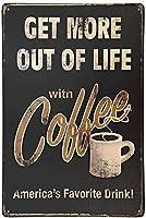 SUDISSKM コーヒーメタルティンサインウォールインテリアアート8x12Inches(20x30cm)で人生をもっと楽しもう