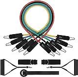CCFCF Resistance Bands Widerstandsband Set 5 Übungsbänder, Griffen, Türanker,...