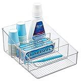 mDesign Caja con compartimentos – Organizador de baño con 4 divisiones para...
