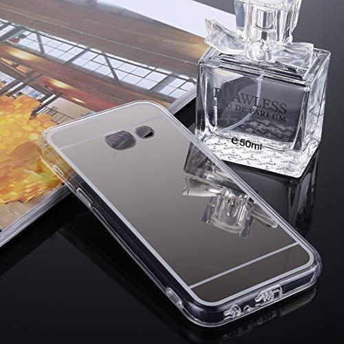 ZAORUN Cubiertas Protectoras de Cellphone Compatible for Samsung Galaxy J5 Prime acrílico TPU Espejo de galvanoplastia Cubierta Trasera Protectora (Color : Silver)