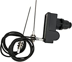 MeTer Star Grill Igniter Kit AA Battery Two Exits with Spark Plug Wire Length 1 Meters Long (Two Electrodes) CE/CSA Certified