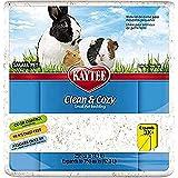 Kaytee 894629 Clean & Cozy Streu für kleine Haustiere / Nager / Hamster, 99.9 % staubfrei, Geruchskontrolle - 12.3 Liter, weiß